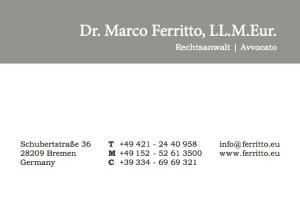 Ferritto-Visitenkarte_Anzeige
