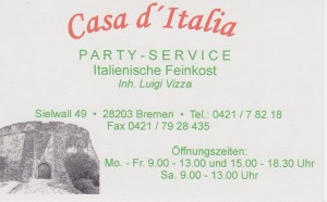 Visitenkarte VIZZA