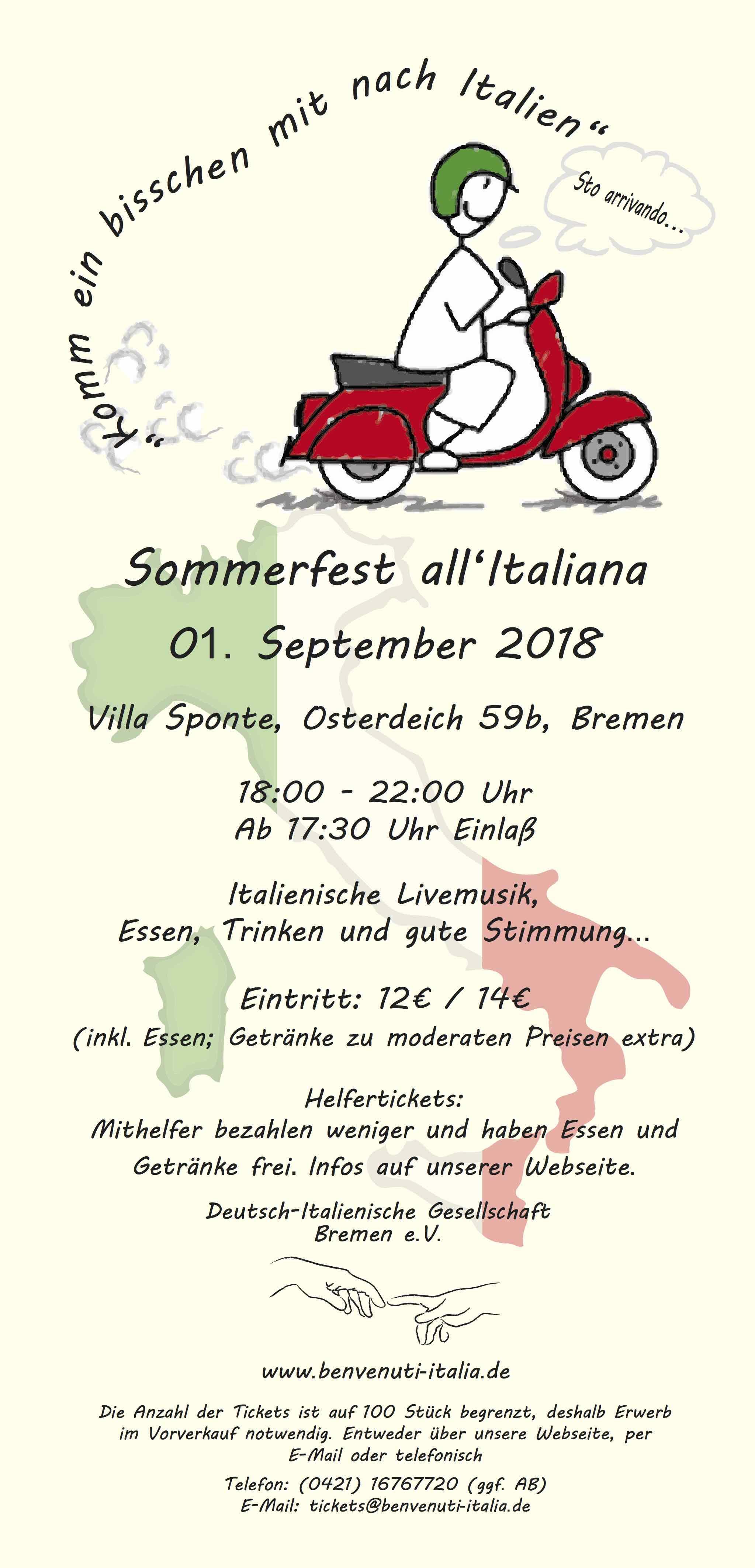 Sommerfest all\'italiana 2018 - Deutsch-Italienische Gesellschaft ...